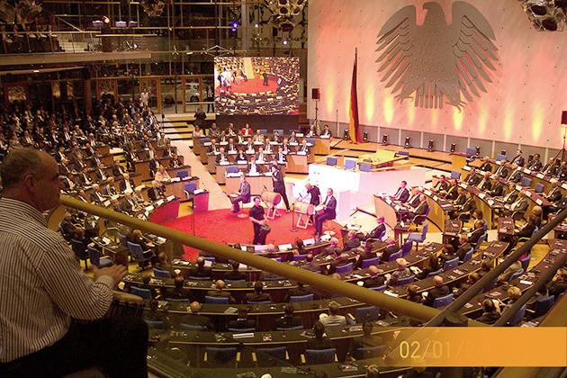 drumcircle im Bonner Bundestag