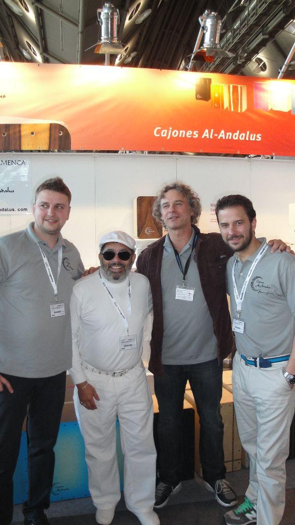Musikmesse 2015 mit Cajones Al andalus und Giovanni Hidalgo